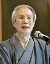 能楽師の大槻文蔵さんが講演 「感受性豊かな時期に触れて」 【西日本 ...