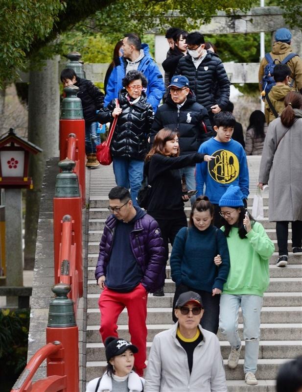 中国 から の 観光 客