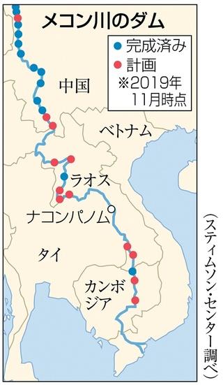 なぜ?メコン川に異変 色が変化、水位低下…上流の中国ダム影響か|【西日本新聞ニュース】
