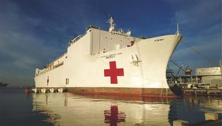 米海軍の病院船「マーシー」(モバイル・ホスピタル・インターナショナル提供)