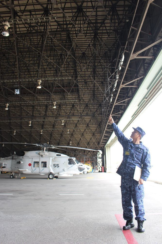 現在も海上自衛隊大村航空基地で使われている第21航空廠の旧格納庫 ...
