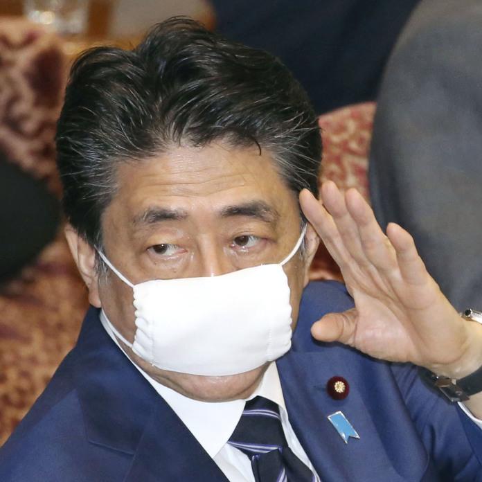 晋三 マスク 小さい 安倍