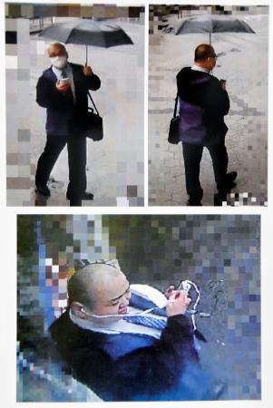 受け子役とみられる男の写真(大阪府警東淀川署提供)