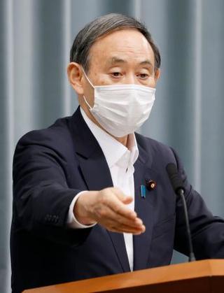 官房 長官 の マスク 菅
