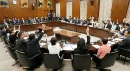 ドローン規制法改正案を賛成多数で可決した参院内閣委=16日午後 ...